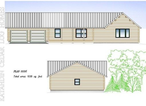 Log Home Plan #03315