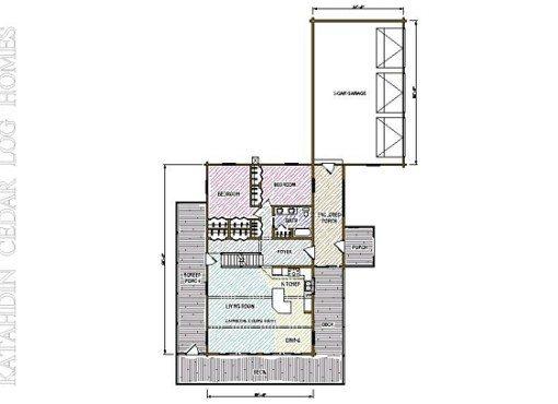 Log Home Plan #04244