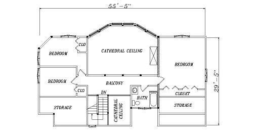 Log Home Plan #04263