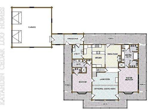 Log Home Plan #04280