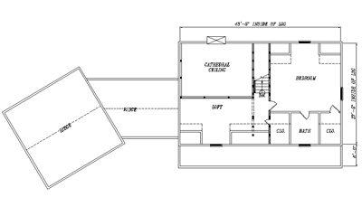 Log Home Plan #04294