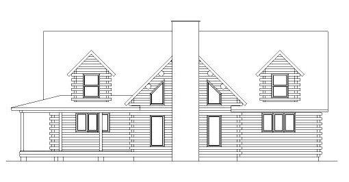 Log Home Plan #04309
