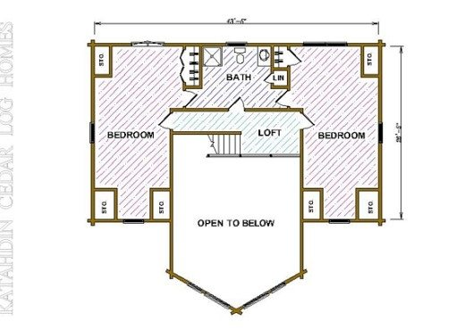 Log Home Plan #04336