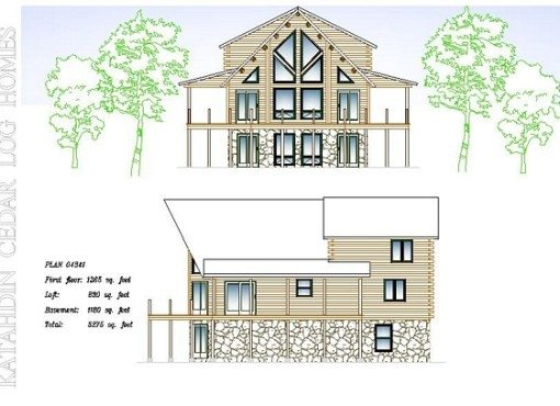Log Home Plan #04341