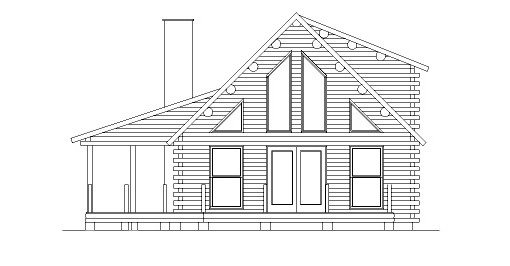 Log Home Plan #04342