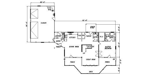 Log Home Plan #04361
