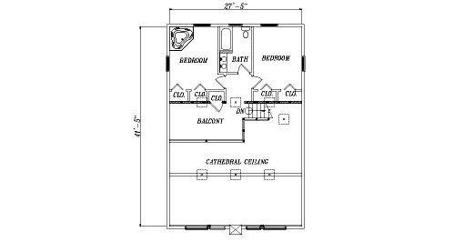 Log Home Plan #04373