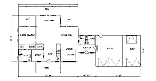 Log Home Plan #04389