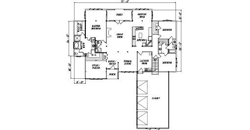 Log Home Plan #04398