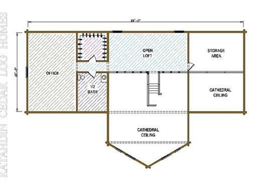 Log Home Plan #04409