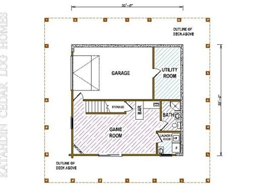 Log Home Plan #05386