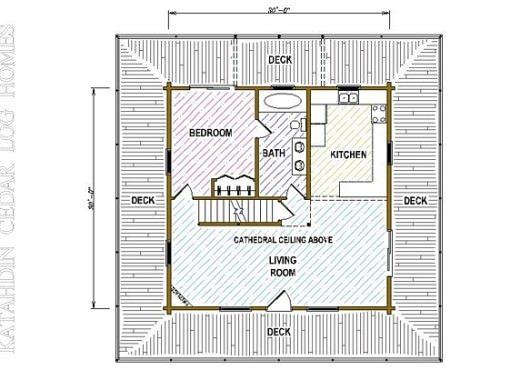 Log Home Plan #05386