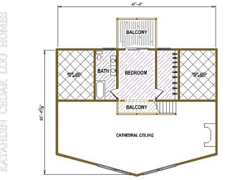 Log Home Plan #05345