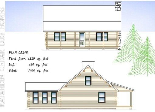 Log Home Plan #05348