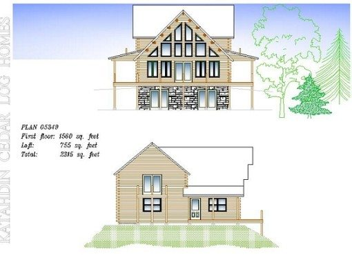 Log Home Plan #05349