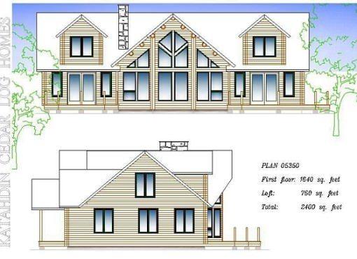 Log Home Plan #05350