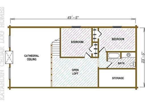 Log Home Plan #05352