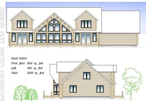 Log Home Plan #05353