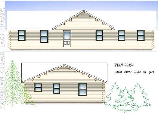 Log Home Plan #05354