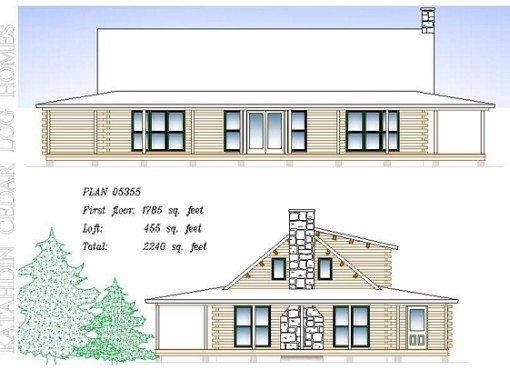 Log Home Plan #05355