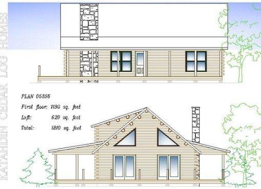 Log Home Plan #05356
