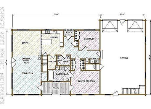 Log Home Plan #05358