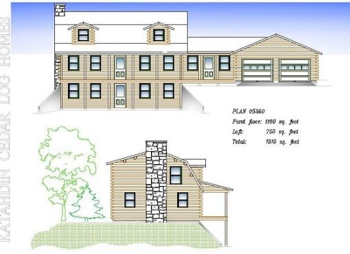 Log Home Plan #05360