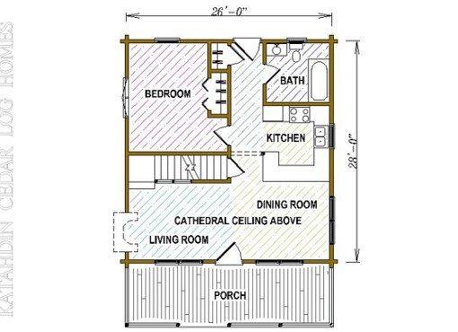 Log Home Plan #05364