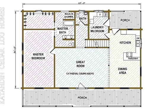 Log Home Plan #05365