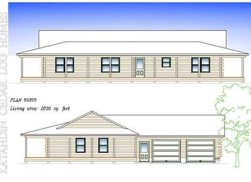 Log Home Plan #05370