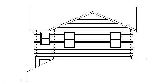 Log Home Plan #05372
