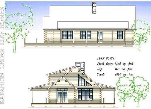 Log Home Plan #05374