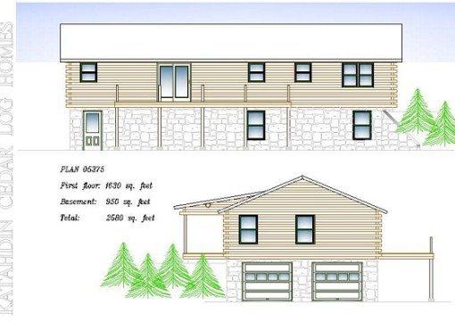 Log Home Plan #05375