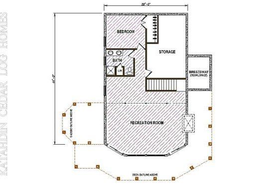 Log Home Plan #05380