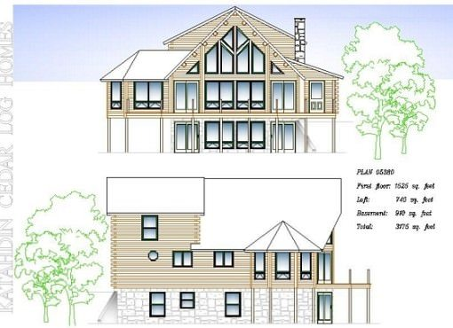 Log Home Plan #05380
