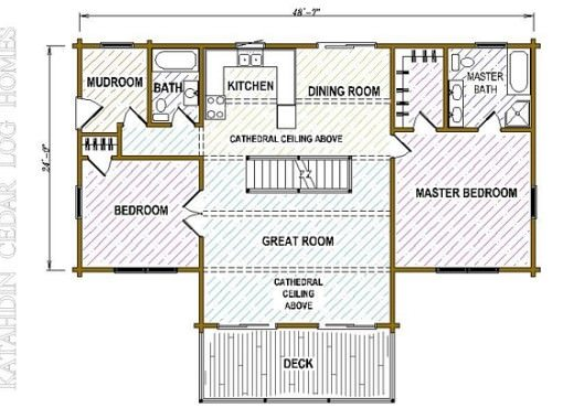 Log Home Plan #05381