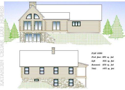 Log Home Plan #05383