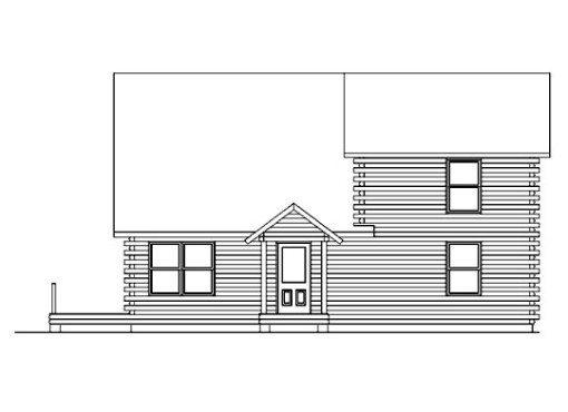 Log Home Plan #05385