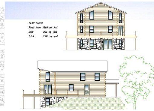 Log Home Plan #05388