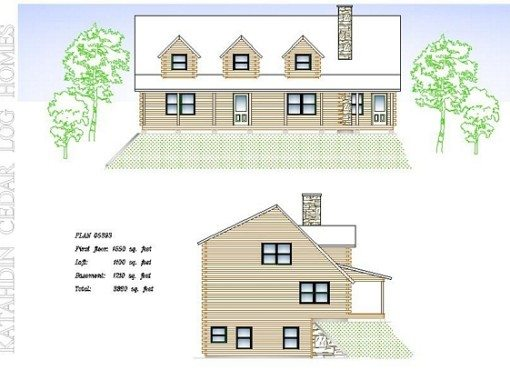Log Home Plan #05393