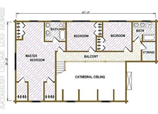 Log Home Plan #05393