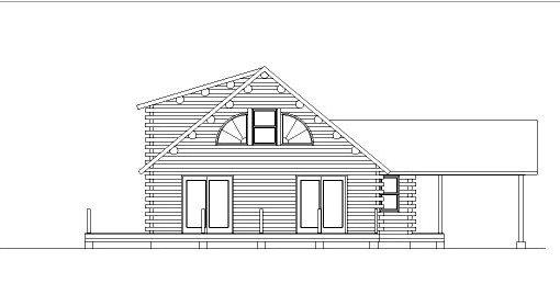 Log Home Plan #05394