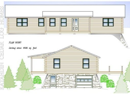 Log Home Plan #05397