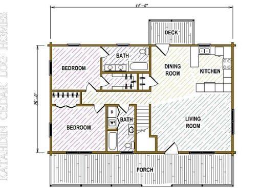 Log Home Plan #05399