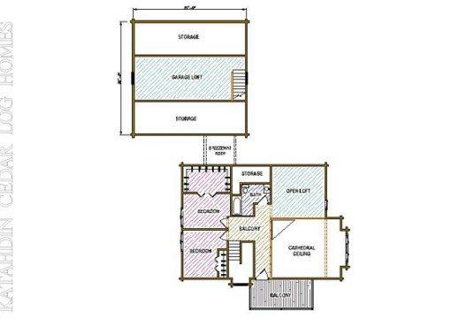 Log Home Plan #05400