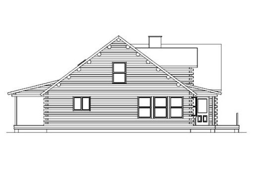 Log Home Plan #05402