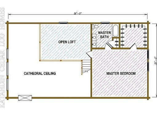 Log Home Plan #05404
