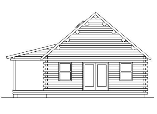 Log Home Plan #05405