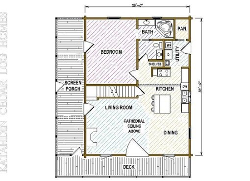 Log Home Plan #05407