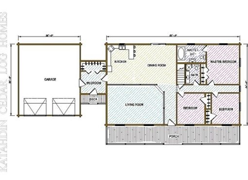 Log Home Plan #05408